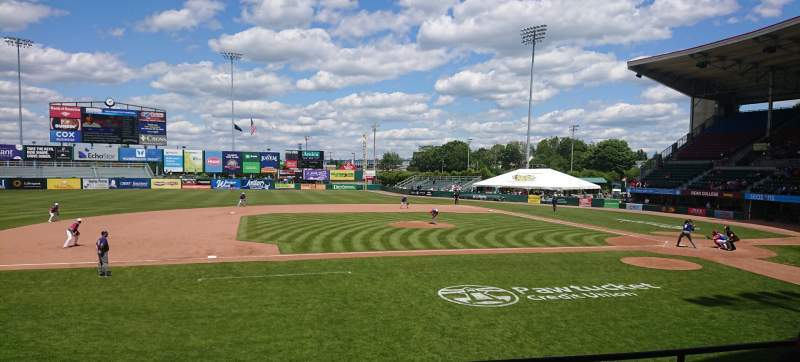 Seating view for McCoy Stadium Section 11 Row D Seat 11
