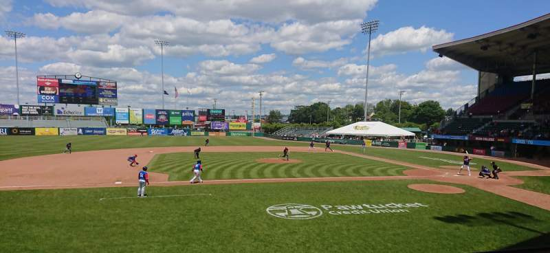 Seating view for McCoy Stadium Section 11 Row D Seat 6