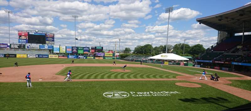 Seating view for McCoy Stadium Section 11 Row D Seat 1