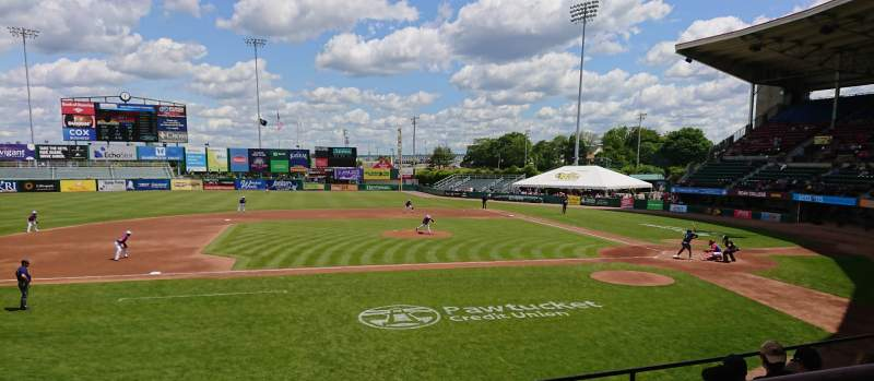 Seating view for McCoy Stadium Section 11 Row F Seat 1