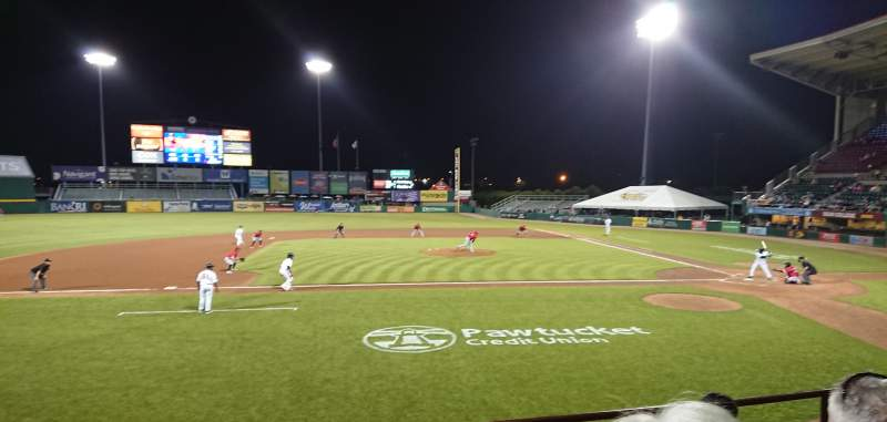 Seating view for McCoy Stadium Section 10 Row D Seat 16
