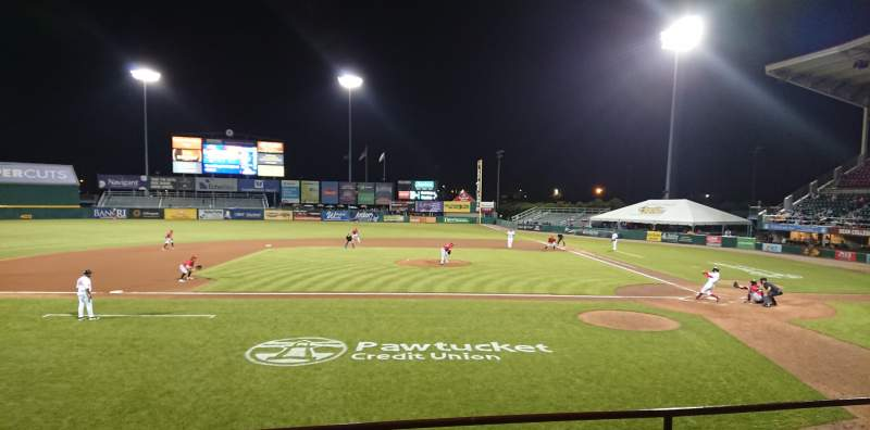 Seating view for McCoy Stadium Section 10 Row D Seat 6