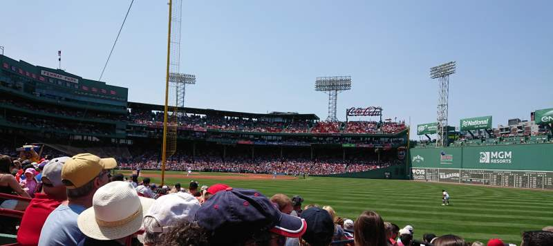 Seating view for Fenway Park Section Right Field Box 92 Row GG Seat 9