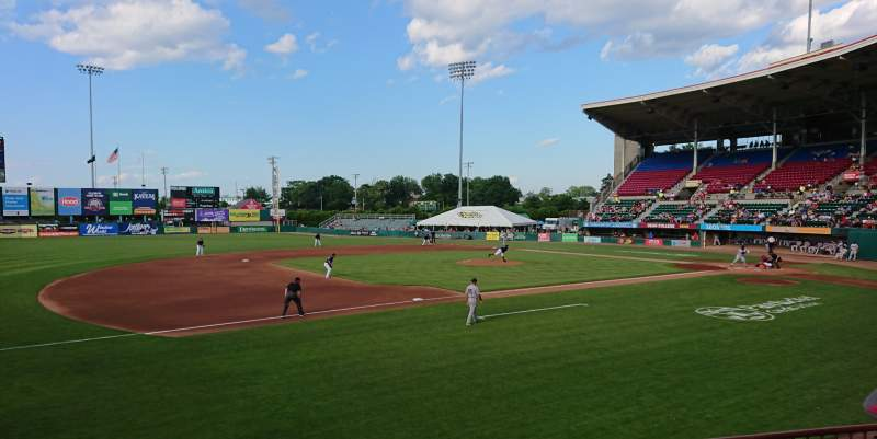 Seating view for McCoy Stadium Section 13 Row D Seat 11