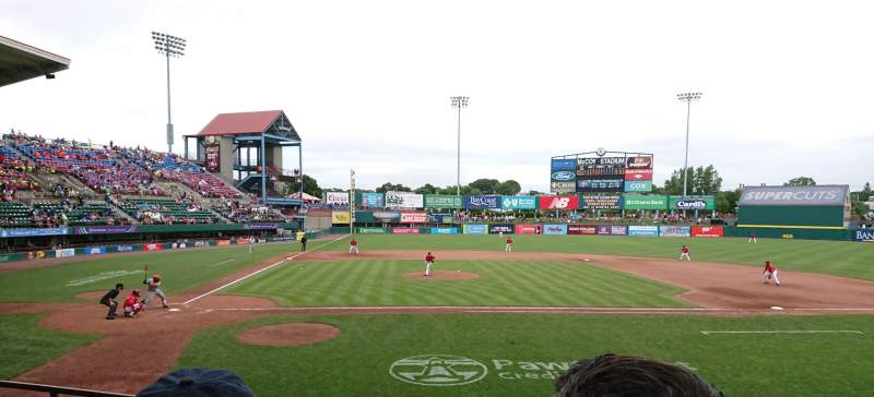 Seating view for McCoy Stadium Section 4 Row D Seat 1