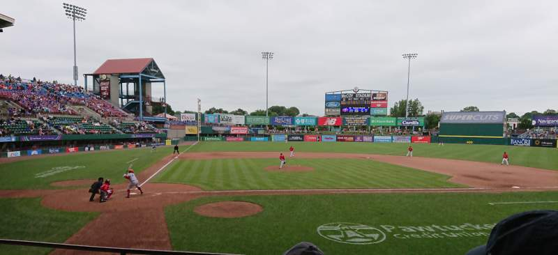 Seating view for McCoy Stadium Section 4 Row D Seat 11