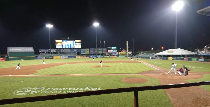 Seating view for McCoy Stadium Section 9 Row B Seat 10