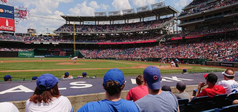 Seating view for Nationals Park Section 117 Row G Seat 17