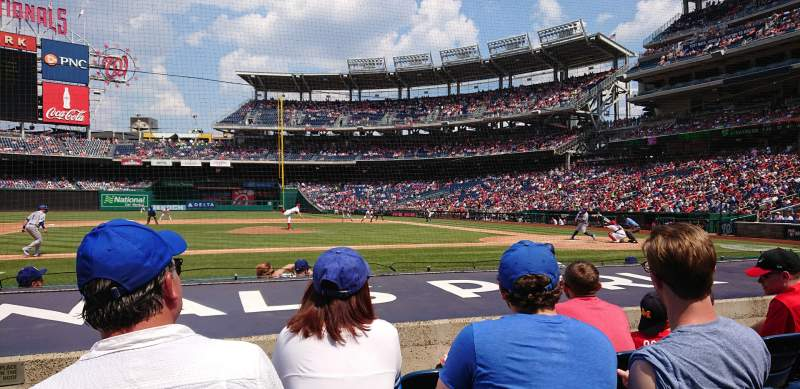 Seating view for Nationals Park Section 117 Row G Seat 18