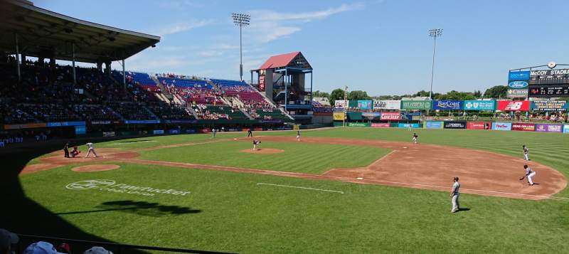 Seating view for McCoy Stadium Section 1 Row F Seat 7