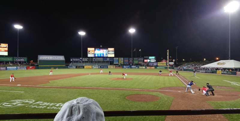 Seating view for McCoy Stadium Section 9 Row B Seat 1