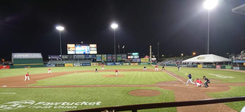 Seating view for McCoy Stadium Section 9 Row B Seat 6