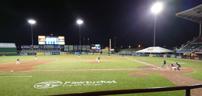 Seating view for McCoy Stadium Section 10 Row B Seat 1