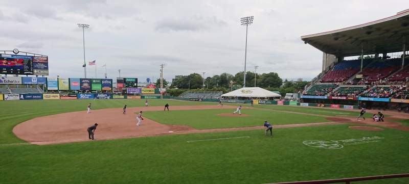 Seating view for McCoy Stadium Section 12 Row D Seat 14