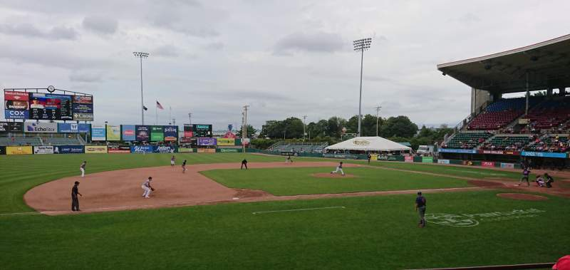 Seating view for McCoy Stadium Section 12 Row D Seat 10
