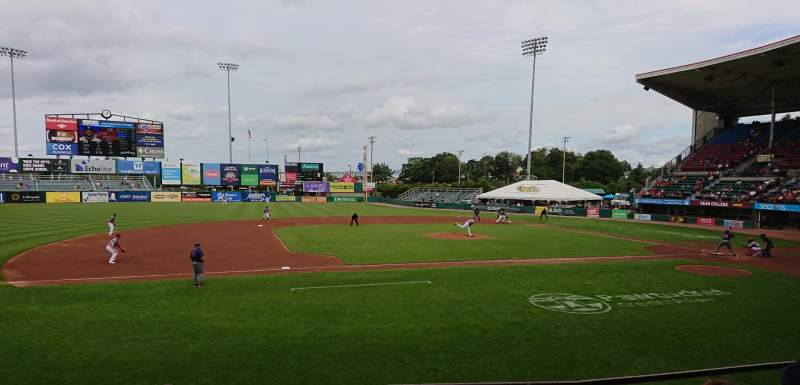 Seating view for McCoy Stadium Section 12 Row D Seat 1