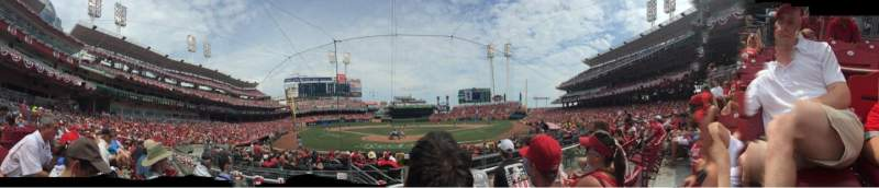 Seating view for Great American Ball Park Section 23 Row C Seat 6