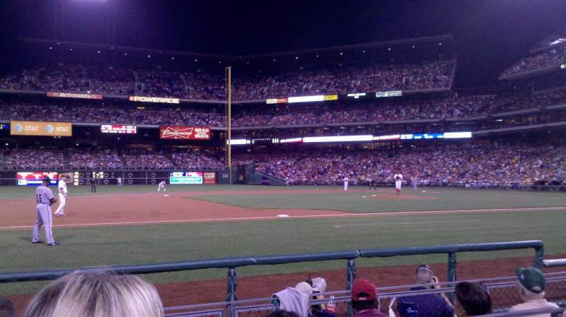 Seating view for Citizens Bank Park Section 132 Row 2 Seat 10