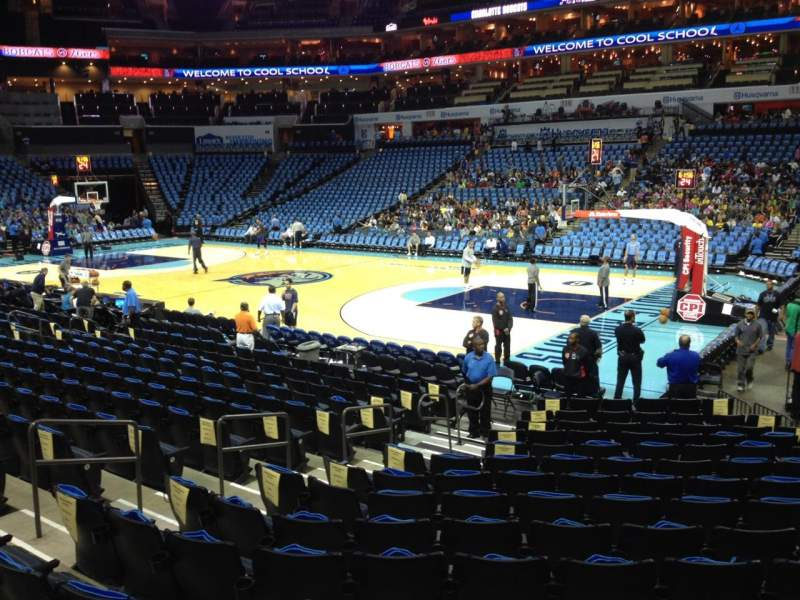 Seating view for Spectrum Center Section 103 Row M Seat 17