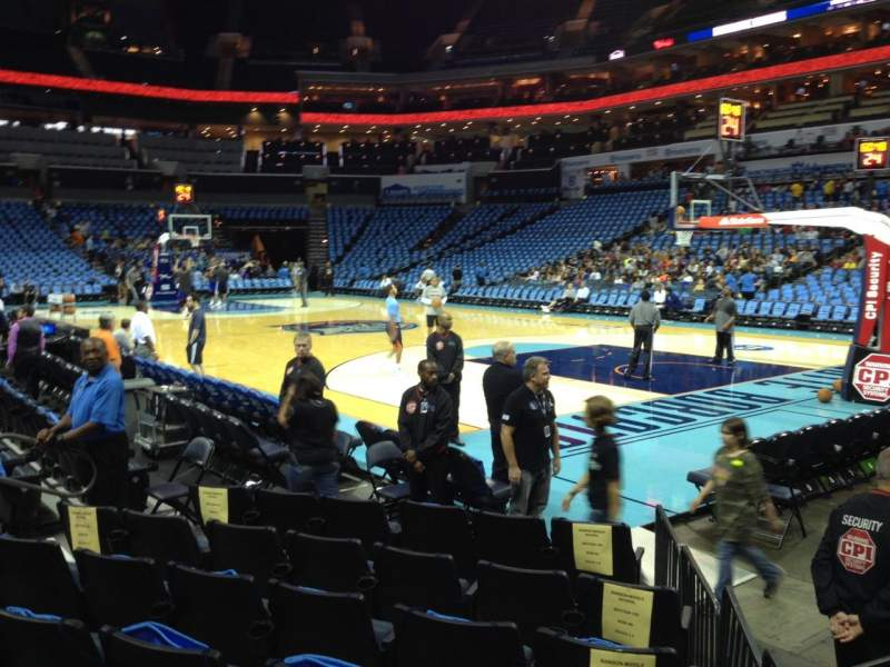 Seating view for Spectrum Center Section 103 Row E Seat 2