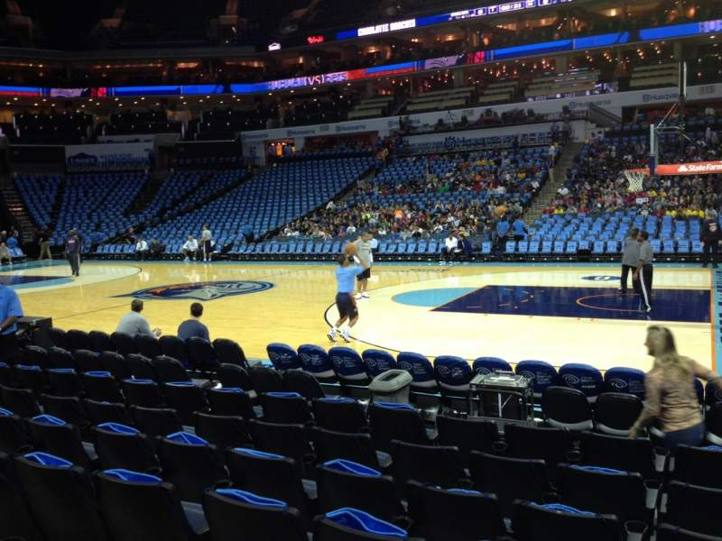 Seating view for Spectrum Center Section 103 Row E Seat 5