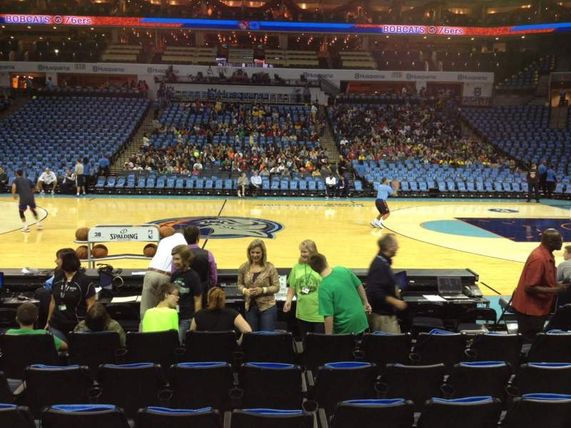 Seating view for Spectrum Center Section 104 Row E Seat 9