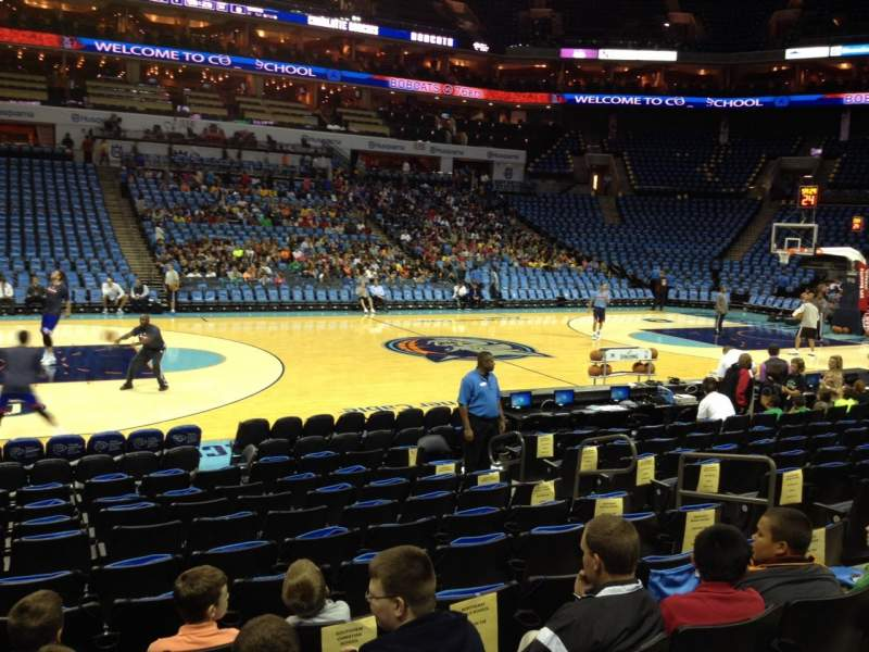 Seating view for Spectrum Center Section 106 Row I Seat 8