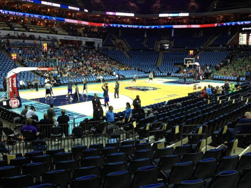 Seating view for Spectrum Center Section 107 Row K Seat 14