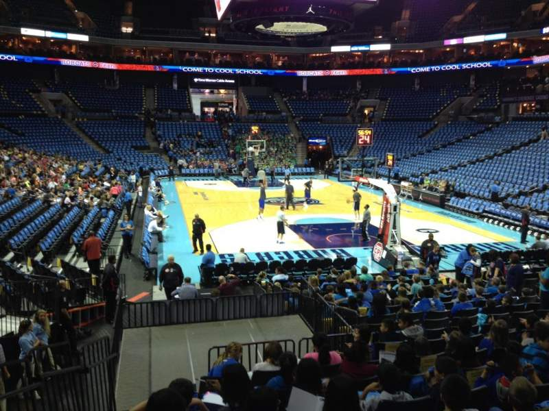 Seating view for Spectrum Center Section 110 Row O Seat 15