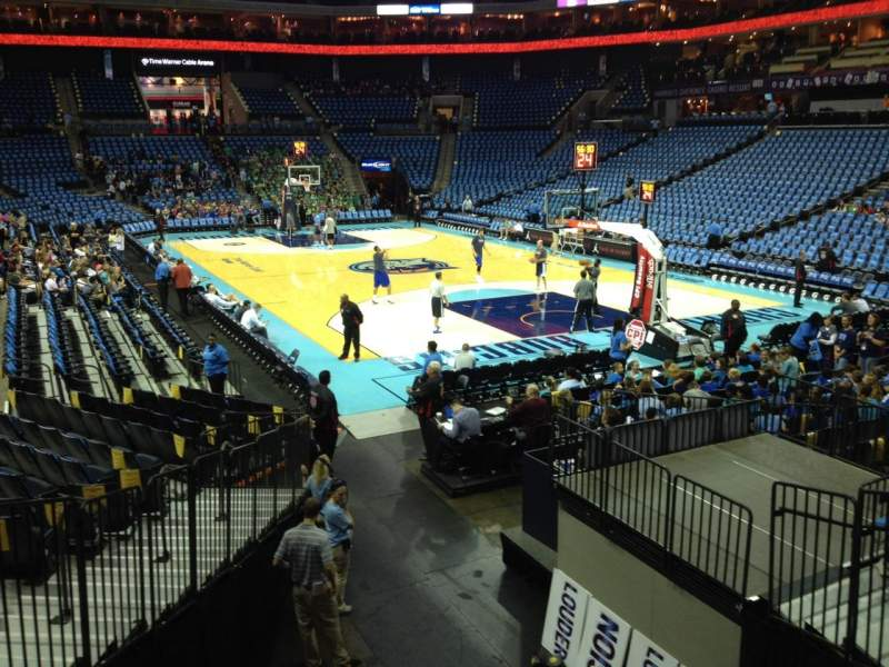Seating view for Spectrum Center Section 111 Row O Seat 8