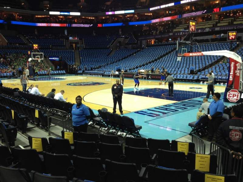 Seating view for Spectrum Center Section 112 Row E Seat 4