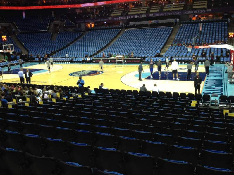 Seating view for Spectrum Center Section 113 Row M Seat 3