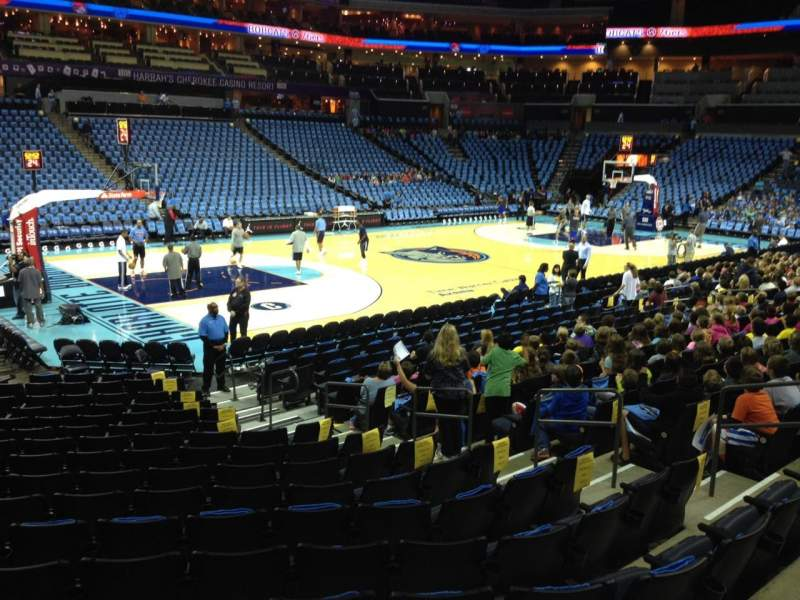 Seating view for Spectrum Center Section 116 Row N Seat 11