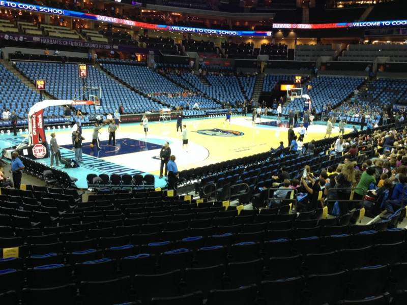 Seating view for Spectrum Center Section 116 Row N Seat 19
