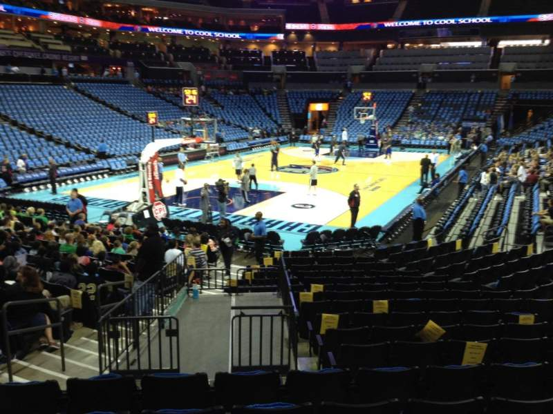 Seating view for Spectrum Center Section 116 Row N Seat 38
