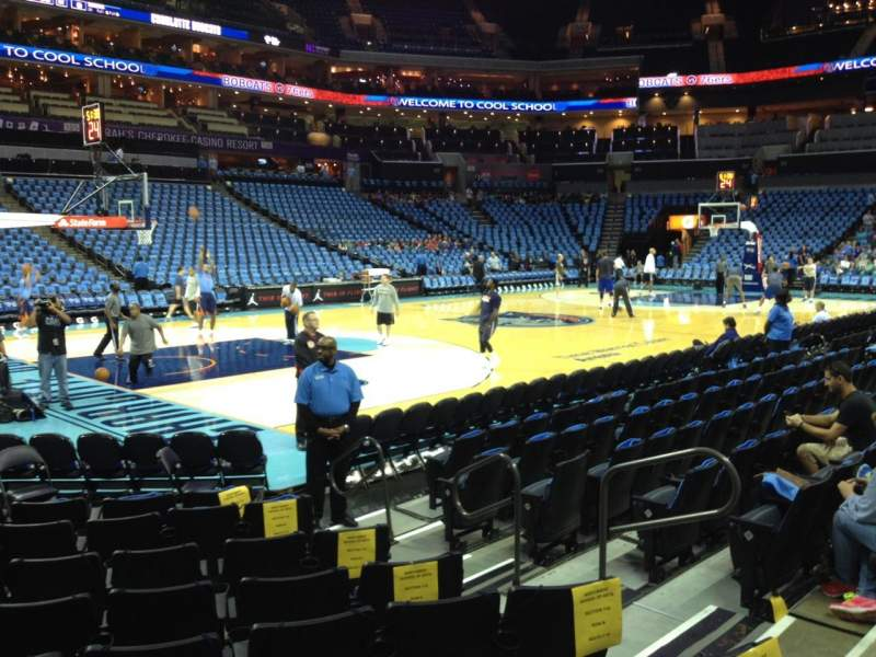 Seating view for Spectrum Center Section 116 Row F Seat 7