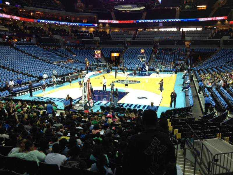 Seating view for Spectrum Center Section 117 Row O Seat 2
