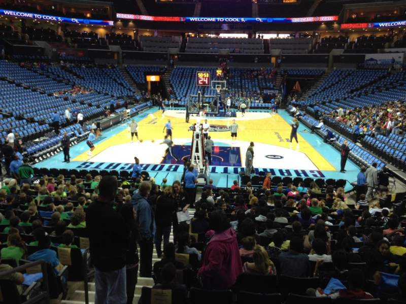 Seating view for Spectrum Center Section 117 Row O Seat 15