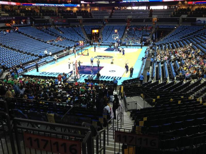 Seating view for Spectrum Center Section 116 Row W Seat 59