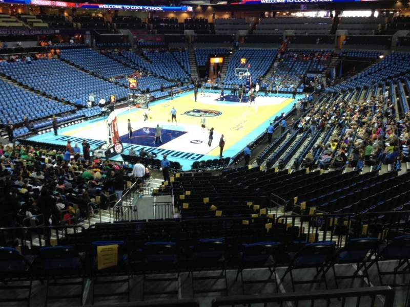 Seating view for Spectrum Center Section 116 Row W Seat 45
