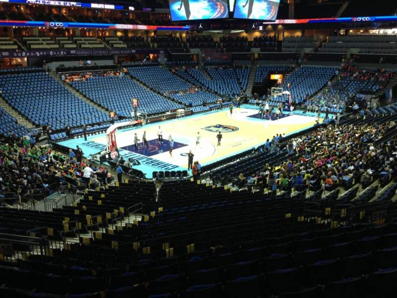 Seating view for Spectrum Center Section 116 Row AA Seat 22