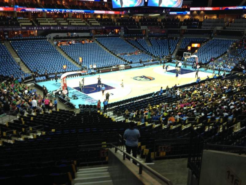 Seating view for Spectrum Center Section 116 Row AA Seat 9