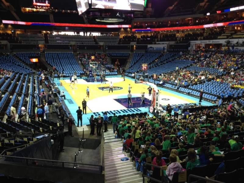 Seating view for Spectrum Center Section 102 Row S Seat 2