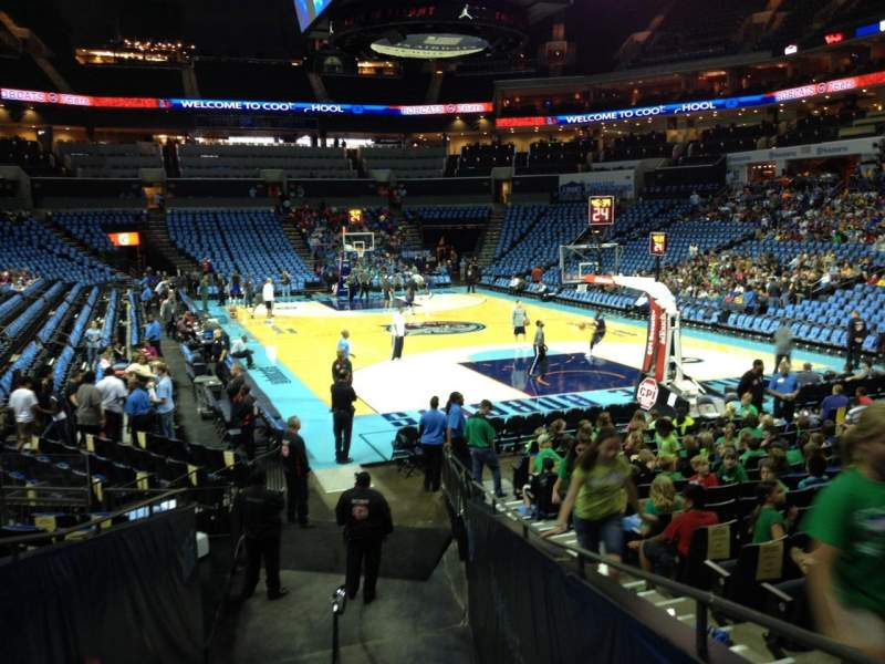 Seating view for Spectrum Center Section 102 Row N Seat 4