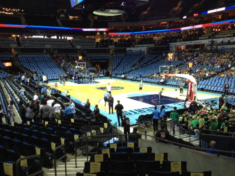 Seating view for Spectrum Center Section 102 Row N Seat 13