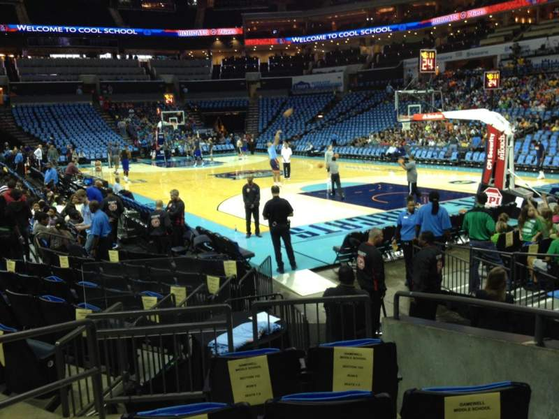 Seating view for Spectrum Center Section 102 Row I Seat 3