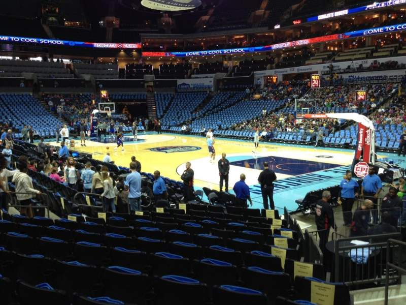 Seating view for Spectrum Center Section 103 Row K Seat 5