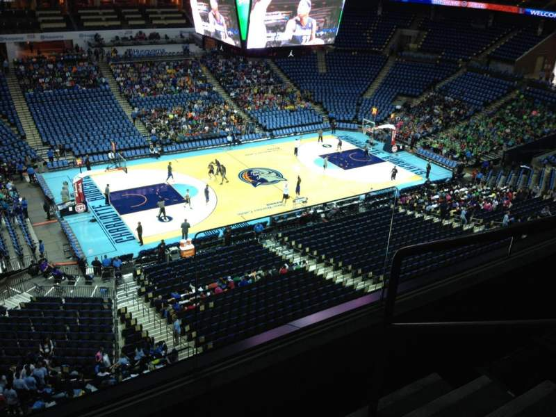 Seating view for Spectrum Center Section 211 Row C Seat 2