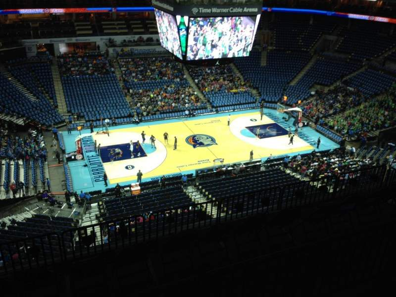 Seating view for Spectrum Center Section 210 Row H Seat 12