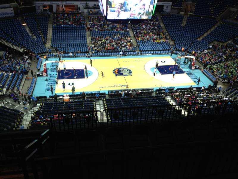 Seating view for Spectrum Center Section 209 Row H Seat 13